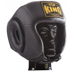 Kask Bokserski Top-King Open Chin Black
