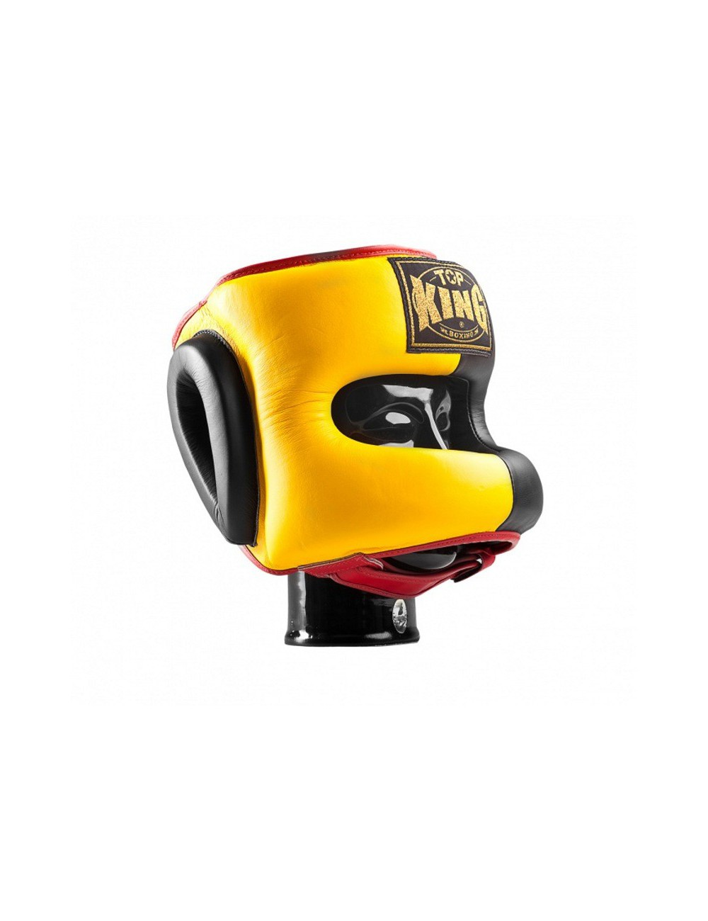 Kask Bokserski Top-King Spar. Yellow / Black