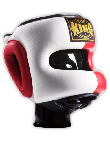 Kask Bokserski Spar. Top-King red / white