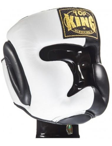 Kask Bokserski Top King Extra Coverage White / Black