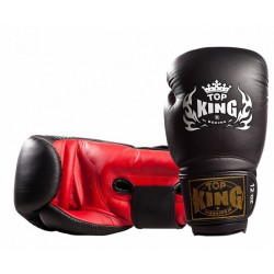 Rękawice Bokserskie Top King Super Black / Red