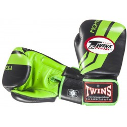 Rękawice bokserskie TWINS Fighting Spirit Black / Green