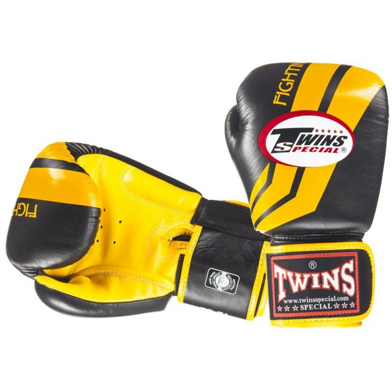 Rękawice bokserskie TWINS Fighting Spirit Black / Yellow
