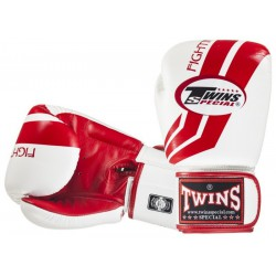 Rękawice bokserskie TWINS Fighting Spirit White / Red