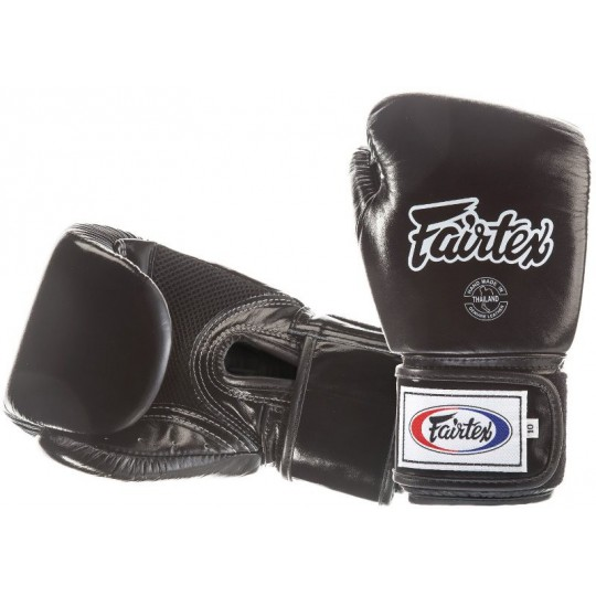 Rękawice FAIRTEX bokserskie  BGV1-B (black) breathable