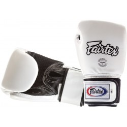 Rękawice FAIRTEX bokserskie  BGV1-B WHITE breathable