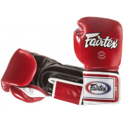 Rękawice bokserskie FAIRTEX  SUPER SPARING BGV5 red/black/white