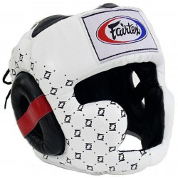 Kask Bokserski FAIRTEX HG10 Super Sparring White