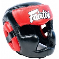 Kask Bokserski FAIRTEX Sparingowy HG13 FULL COVERAGE Red/black