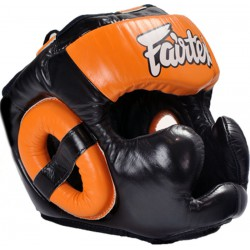 Kask Bokserski FAIRTEX Sparingowy HG13 Diagonal Extra Vision Black/Orange