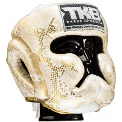 KASK BOKSERSKI TOP KING SNAKE SUPER STAR  WHITE/GOLD