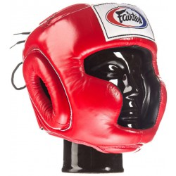 Kask Bokserski FAIRTEX HG3 RED Super Sparring