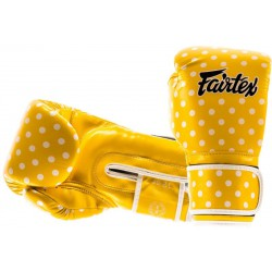 Rękawice bokserskie FAIRTEX POLKA DOT VINTAGE YELLOW